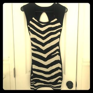 Sexy Print Black Bodycon Dress 💕